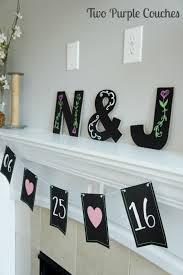 bridal shower monogram decor two purple couches