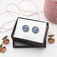 New York Pocket Map by Brooklyn New York Vintage Map Cufflinks Micky Chase Jewelry