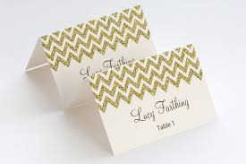 printable name place cards gold place card template chevron name cards diy