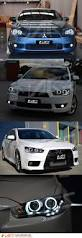 jdm mitsubishi evo jdm varis ccfl angel eyes drl led head lights mitsubishi lancer cj