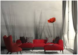Bedroom Wall Murals Red Poppy Online Store - Poppy wallpaper home interior