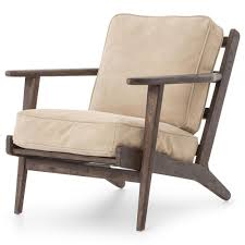 Wood And Leather Lounge Chair Design Ideas Furniture Rider Mid Century Modern Oak Nubuck Camel Suede Leather