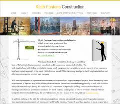 website design keith fontana construction advertising