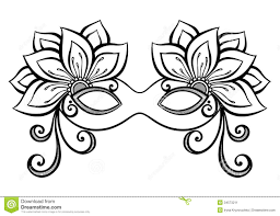 masquerade mask coloring page project for awesome mardi gras masks