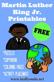 martin luther king jr printables set free free homeschool