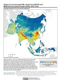 Asia Maps by Maps Global Annual Average Pm2 5 Grids From Modis And Misr