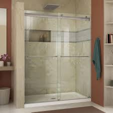 Showerlux Shower Doors Glass Shower Enclosures With Half Wallframeless Half Wall Shower