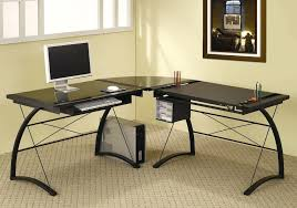 techni mobili black glass corner desk desk techni mobili glass top home office desk small home office