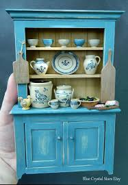 miniature dollhouse kitchen furniture on hold jane graber pottery rustic artisan cabinet dolls house