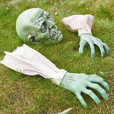 halloween zombie face u0026 arm stakes best halloween yard decorations