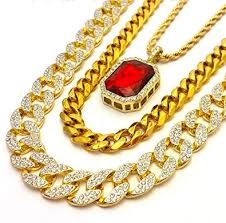 red chain link necklace images Iced out cubic zirconia cz gold finish miami cuban link large red jpg