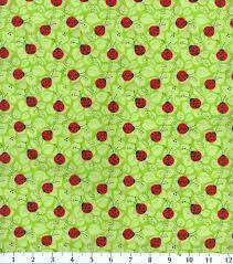 ladybug wrapping paper novelty cotton fabric ladybug on leaf at joann quilting