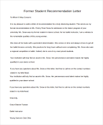 sample recommendation letters for student 7 examples in pdf word