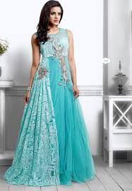 color designer buy unique sky blue color designer long gown type anarkali suit online