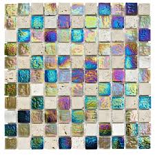 stone u0026 glass mosaic tile l 300mm w 300mm departments diy