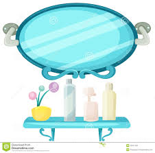 Bathroom Mirror With Shelf by Bathroom Mirror With Shelf Stock Vector Image 49015728