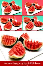 1 technique de cuisine comment servir le melon de façon