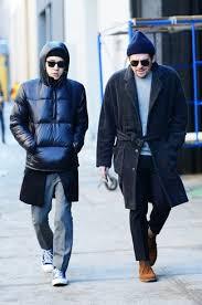 men u0027s charcoal overcoat grey crew neck sweater black dress pants