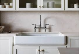 33 Inch Fireclay Farmhouse Sink by Fireclay Farmhouse Sink Kitchen With Inset Cabinets Ceramic Tile