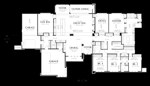 Single Story House Plans With Inlaw Suite by Mascord House Plan 1333 The Broadway