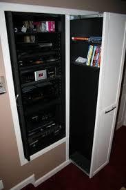 Dvd Movie Storage Cabinet Hidden Dvd Storage Behind Movie Posters Hinged To Built In Boxes