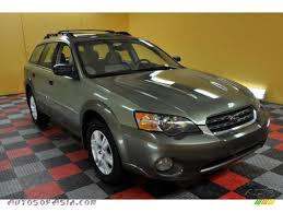 green subaru outback 2005 subaru outback 2 5i wagon in willow green opal 304751