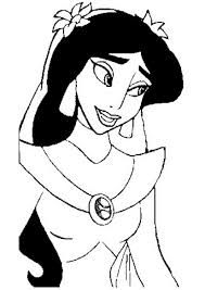 jasmine with veil coloring page aladdin pages of