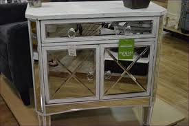 bedroom fabulous 3 drawer mirrored bedside table glass chest
