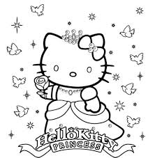 print princess hello kitty coloring pages or download princess