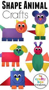 shape animal cut and paste set help teaching construction paper