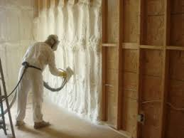 attic renovation and open cell spray foam insulation project on