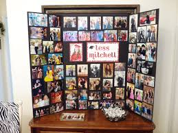 photo memory board display that i made for tess u0027s graduation party