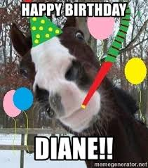 Horse Birthday Meme - happy birthday diane birthday horse meme generator