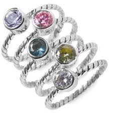 stackable birthstone ring lori bonn stackable birthstone ring polyvore