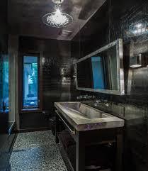 pebble bathroom floor bathroom rustic with exposed beams floating