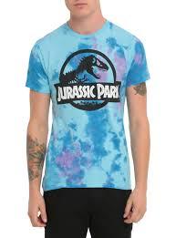 jurassic park tie dye logo t shirt topic