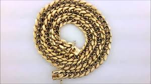 mens solid gold necklace images Men 39 s cuban solid gold chain 144 grams jpg