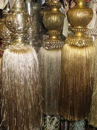 Large Drapery Tassels Winter Interior Design Ideas Using The Colour Gold