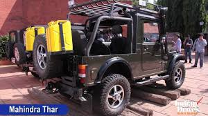 thar jeep interior mahindra thar with ac launched in india walkaround video youtube