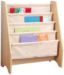 kids storage bookcase canvas sling children bookshelf stores