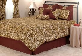 Cheetah Twin Comforter Leopard Bedding Brown Pink And Orange Jungle Safari Themed
