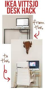 Ikea Desk Hack by Ikea Vittsjo Desk Hack Get Crafty Pinterest Desks Ikea