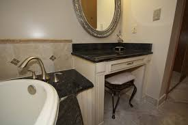 Makeup Vanity Bathroom Furniture Glamorous Double Sink Vanity With Makeup Area