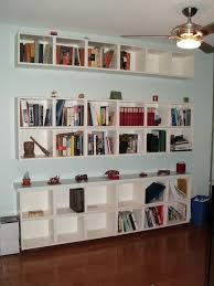 interior great wall shelves for books to open the world through