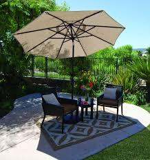 Treasure Garden Patio Umbrellas by 9 U0027 Push Button Tilt Umbrella Boulder All Things Barbecue
