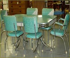 dining room mid century kitchen table stone vinyl chair frame