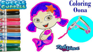 bubble guppies coloring page drawing doh vinci how to make color
