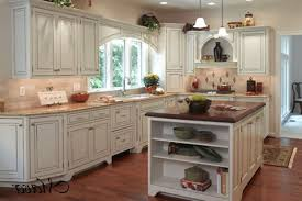 Tile Under Kitchen Cabinets Kitchen Style Off White Distressed Victorian Kitchen Cabinets