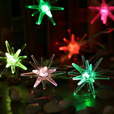 outdoor christmas lights stars 20 led crystal stars christmas lights multi color battery
