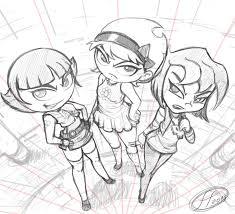 3 bad girls sketch by 14 bis on deviantart